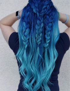 blue ombre hair color trend in trendy hairstyles and colors blue ombre hair; Hair 33 Blue Ombre Hair Color Trend In 2019 Pretty Hair Color, Ombre Hair Color, Blue Ombre, Dyed Hair Ombre, Blue Hair Colour, Amazing Hair Color, Diy Ombre Hair, Hair Color 2017, Dyed Hair Blue