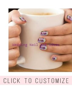 Shop Elegant Vintage Fancy Floral Purple Pansies Minx Nail Wraps created by Sara_Valor. Personalize it with photos & text or purchase as is! Simple Wedding Nails, Wedding Nails Design, Gel Nail Art, Acrylic Nails, Nail Polish, Marble Nails, 3d Nails, Coffin Nails, Natural Looking Nails