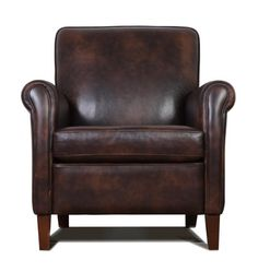 Genuine, High End, Leather Accent Chair - Club Chair - Cigar Chair by AlexAlinDesigns on Etsy
