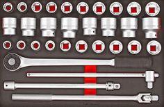 "Teng Tools 32 Piece 3/4"" Drive Metric & AF Socket Set In Eva Foam"