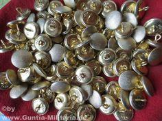 Uniformknöpfe gekörnt, gold / mehr Infos auf: www.Guntia-militaria-shop.de