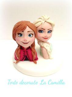 Elsa  Anna cake topper not a tutorial but good ideas