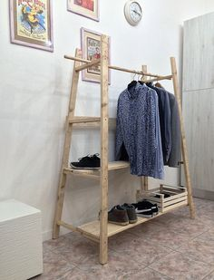 Shelves – handmade stand industrial style floor hanger – a unique product by GarageBySilvio on DaWanda
