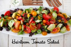 Heirloom Tomato Salad | Take heirloom tomatoes for example. For me, there's truly nothing like the sweet, juicy taste of a gorgeous heirloom in summertime, either on its own or as the foundation for this straightforward, delicious tomato salad. | From: weelicious.com