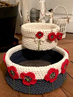Crochet Poppy, Poppies, Basket, Poppy, Poppy Flowers