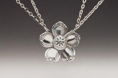 Flower Pendant Necklace - Madeline