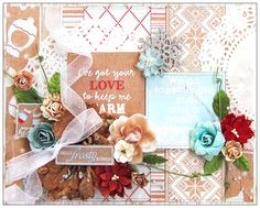 DT work for Scrap Around The World! I altered this canvas using the Cozy Collection by Authentique Paper, Manor House Creations and Prima Marketing flowers, Scrapbook Adhesives by 3L and the December 2014 Mood Board! #papercrafting #scrapbooking #authentiquepaper #manorhousecreations #primamarketing #petaloointernational #cozy #flyingunicornllc #scrapbookcom #scrapbookadhesivesby3l #adhesive #canvas #alteredart #alteredproject