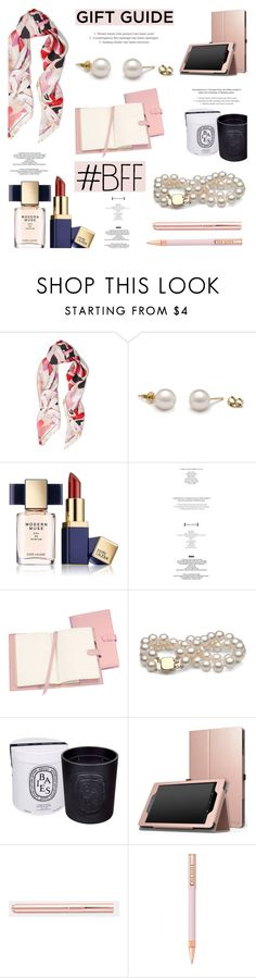 """""""Gift Guide: Work BFF"""" by pearlparadise ❤ liked on Polyvore featuring Roberto Cavalli, Estée Lauder, StyleNanda, Royce Leather, Diptyque, Tom Dixon, Ted Baker, giftguide, contestentry and pearljewelry"""