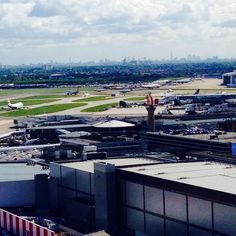 Great view of the #London #skyline today from the top of the tower at #Heathrow #Airport