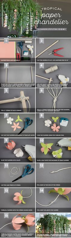 Tropical at the Top! 🌴🌸 Mix elegance with tropical by crafting this gorgeous paper chandelier! Ideal for brunch parties, bridal showers, and for any summer barbecue, you'll want to save this particular project for any fun in the sun. Learn how to craft your own here https://liagriffith.com/tropical-paper-chandelier/⠀⠀⠀⠀⠀⠀⠀⠀⠀ *⠀⠀⠀⠀⠀⠀⠀⠀⠀ *⠀⠀⠀⠀⠀⠀⠀⠀⠀ *⠀⠀⠀⠀⠀⠀⠀⠀⠀ #chandelier #tropics #tropical #luau #bridalshower #brunch #party #partydecor #diyparty #diy #diyidea #diyideas #diyproject…