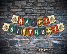 Harry Potter Printables A Smaller Birthday Banner For Every Hogwarts Student Young And Old It Features All