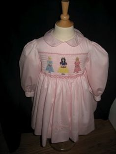 Sew Beautiful - Janet Gilbert Flower Girls smock plate - recolored