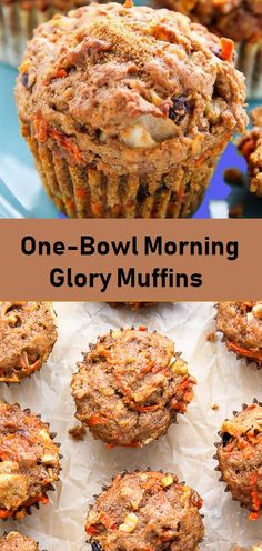 One-Bowl Morning Glory Muffins - All About Health Food Recipes - All About Healt. - One-Bowl Morning Glory Muffins – All About Health Food Recipes – All About Health Food Recipes L - Brunch Recipes, Breakfast Recipes, Snack Recipes, Dessert Recipes, Cooking Recipes, Desserts, Bread Recipes, Healthy Breakfast Muffins, Healthy Muffin Recipes