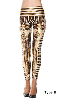 b97ce31c2479c 2017 New Pants Cotton Stretch Pant Elastic Egyptian Printed Stretch Leggings  Pencil Pants