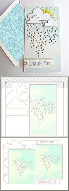 Free Rainy Sky & Clouds .studio cutting files - card kits #Silhouette #CutFile http://melstampz.blogspot.ca/2013/12/rainy-sky-clouds-free-cut-files-quick.html The SVG file is here: https://drive.google.com/file/d/0B6zhHisHgbf1Y2gxY19FUy1BN3c/edit?usp=sharing