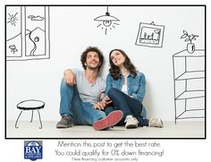 We now have new financing options for 1st time financing customers with low monthly payments and 0% money down! Call 251-450-0463 for details. Mention that you saw this post on Facebook to get the best rate. http://www.bayfurnitureco.com/
