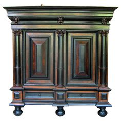 1stdibs.com | 18th Century Dutch Cabinet of Large Proportions, Ripple moldings.