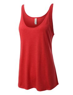 Your favorite tank top just got better! This basic scoop neck loose fit tank top is designed with an oversized fit on a super soft material that feels airy all day long. This simple yet classic tank t