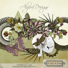 ALGERA DESIGNS - Intermixture New Digital Scrapbooking freebie kit in store See blog for details and links x