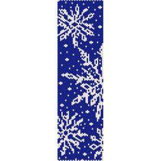 Snowflakes Winter Peyote Bead Pattern, Christmas Bracelet, Bookmark, Seed Beading Pattern Miyuki Delica Size 11 Beads - PDF Instant Download by SmartArtsSupply on Etsy