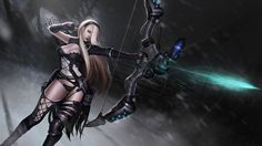 Elite Squad ashe skin splash art league of legends