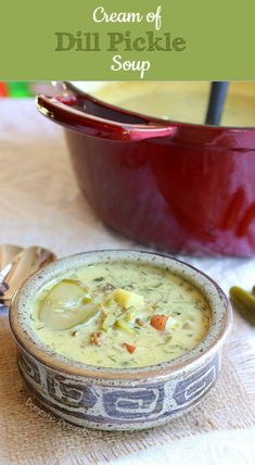Cream of Dill Pickle Soup - Domestic Dreamboat
