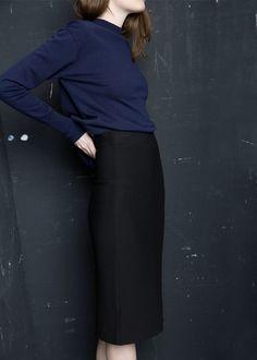 PREMIUM - Textured pencil skirt