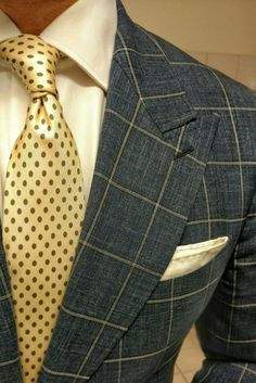 Wearing our Beige Polka tie, hand made in Italy and available for sale at www.thenoblecustom.com