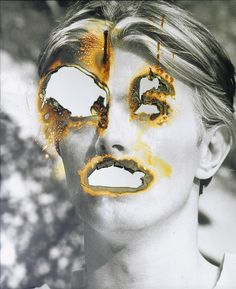 Douglas Gordon, Self Portrait of You Me (David Bowie) 2007 Distortion Photography, A Level Photography, Self Portrait Photography, Photography Projects, Art Photography, Self Portraits, Experimental Photography, James Casebere, James Turell