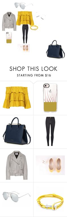 """""""Untitled #510"""" by hanna-debruhl ❤ liked on Polyvore featuring Sans Souci, Casetify, Strathberry, River Island, Acne Studios and Anchor & Crew"""