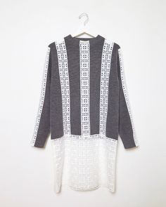 Love this: Lace Combo Sweater Dress @Lyst
