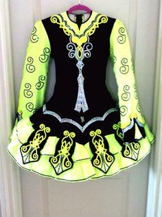 Gorgeous Elevation Design Irish Dance Dress Solo Costume For Sale