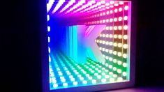 IKEA Infinity Mirror: I decided to try building an infinity mirror after seeing this post here on instructables. I had the IKEA frame laying around and decided to try to use that, and it was actually Infinity Table, Infinity Mirror, Ikea Mirror, Diy Mirror, Infinity Spiegel, Portal Mirror, Mirrors Film, Diy Xmas Gifts, Led Projects