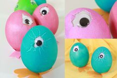 Easter eggs with googly eyes #tutorial #diy #craft