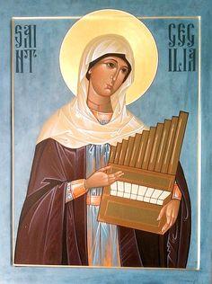 St. Cecilia of Rome - November 22 by Joseph Brown