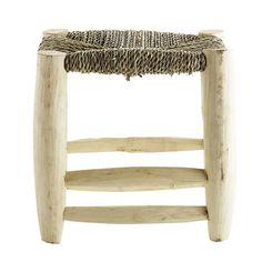 Tabouret en bois et assise tressée Tine K Home 3 tailles : Decoclico