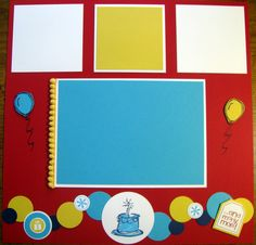 Stacy's Stampin' Spot: Two Page Birthday Scrapbook Page Featuring Circles made with Stampin' Up! Products