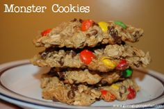 Recipe for Flourless M&M Monster Cookies