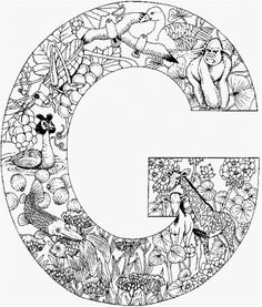 coloring page Alphabet animals on Kids-n-Fun. Coloring pages of Alphabet animals on Kids-n-Fun. More than coloring pages. At Kids-n-Fun you will always find the nicest coloring pages first! Coloring Letters, Alphabet Coloring Pages, Cool Coloring Pages, Animal Coloring Pages, Printable Coloring Pages, Adult Coloring Pages, Coloring Pages For Kids, Coloring Books, Coloring Sheets