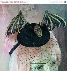 FESTIVAL SALE Vampire Bat Skeleton Gothic by ravenevejewelry