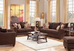 Santa Monica Brown   7 Pc Living Room