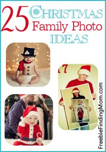 25 Christmas family photo ideas - funny and silly, sweet and touching and everything in between!