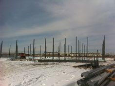 Steel Erection begins.