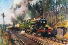 Art Print: Cathedrals Express by Terence Cuneo : Pics Art, Art Pictures, Photos, Steam Art, Railroad Pictures, Steam Railway, Train Times, Train Art, British Rail