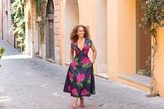 Marjorie Harvey Modeling Michael Kors SS2015 Runway Dress and Christian Louboutin Wedge Pumps