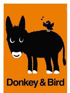 donkey and bird poster
