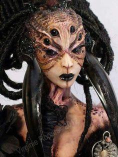 """""""Black Widow Spider"""" by Virginie Ropars Doll Art"""