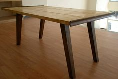 handmade table.retro 50s danish style available in many colours and all dimensions