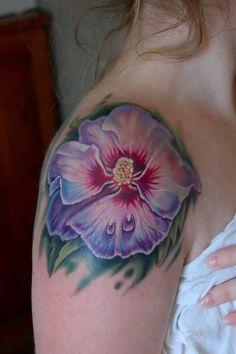 Korean National Flower Tattoo | ... Rose of Sharon tattoos? Its the korean national flower. Many thanks