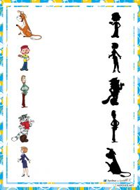 educational game find a shadow, the shadow of the heroes whose domestic cartoons